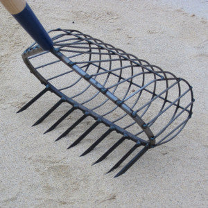 R.A. RIBB COMPANY STAINLESS 9 TOOTH RECREATIONAL BASKET RAKE NO 13