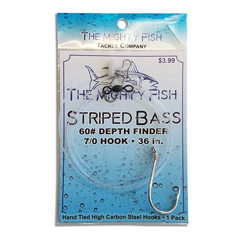 The Mighty Fish Tackle Company Striped Bass Depth Finder Rig