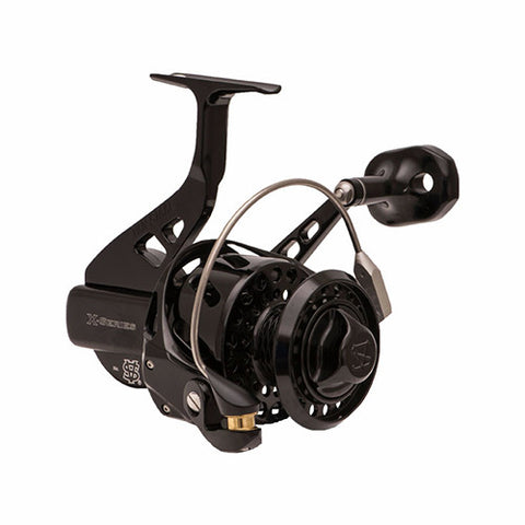 VAN STAAL X SERIES BAILED POLISHED BLACK SPINNING REEL