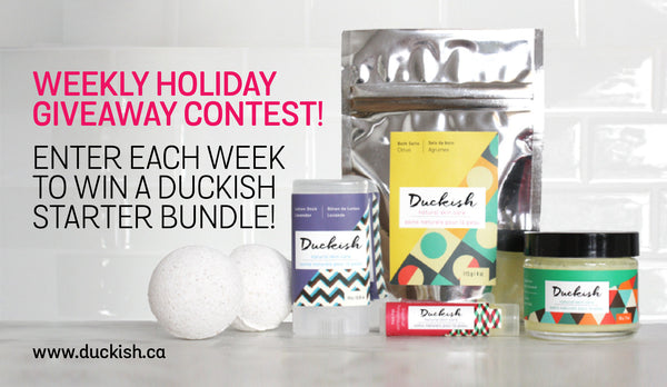 Duckish Natural Skin Care Holiday Contest Starter Kit Gift Set
