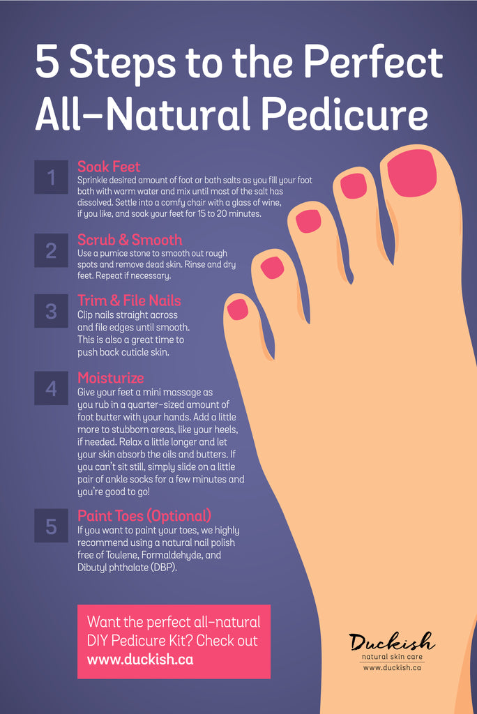 5 Steps to the Perfect All-Natural DIY Pedicure Kit