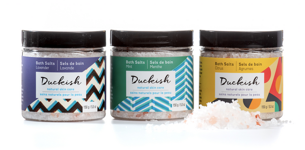 All-Natural Bath Salt Gift Set | Duckish Natural Skin Care