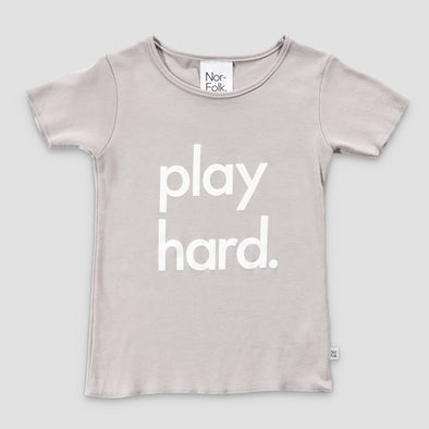 T-Shirt Play Hard grey