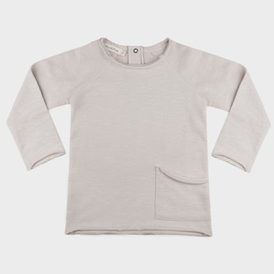 Sweatshirt Raw Edged Oatmeal