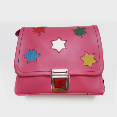Kindergartentasche Star pink