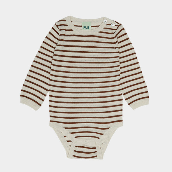 Body Ecru/Umber Stripes