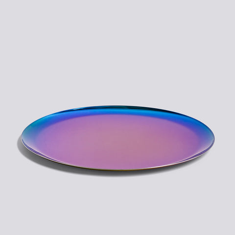 Tablett Tray Rainbow Round
