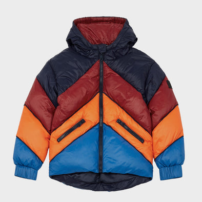 Daunenjacke Color Block