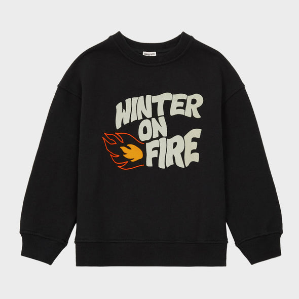 Sweatshirt Winter On Fire