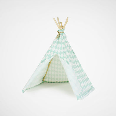 Mini Tipi Green Diamonds