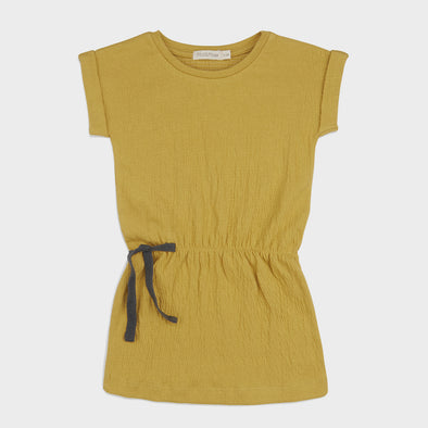 Kleid Textured Dusty Yellow