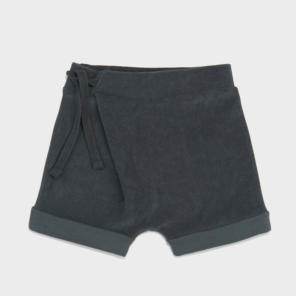 Harem Shorts Frottee Slate Green