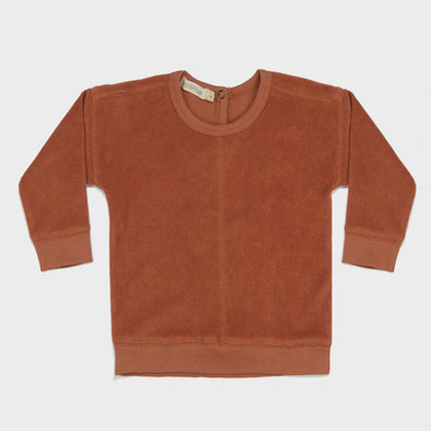 Sweatshirt Frottee Burnt Clay