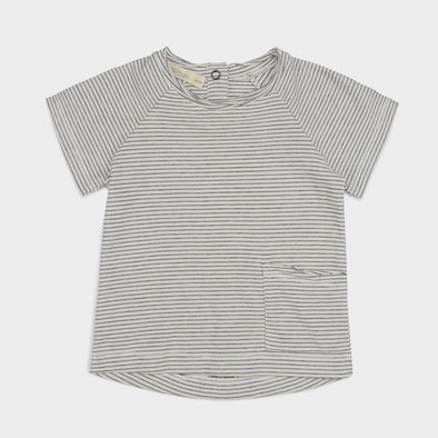 T-Shirt Raw Edged Vanilla Stripe