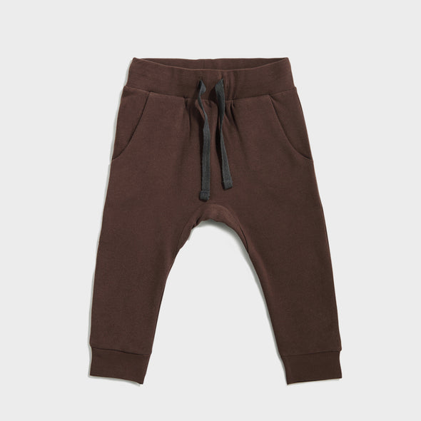 Trainerhose Drop Crotch Cacao