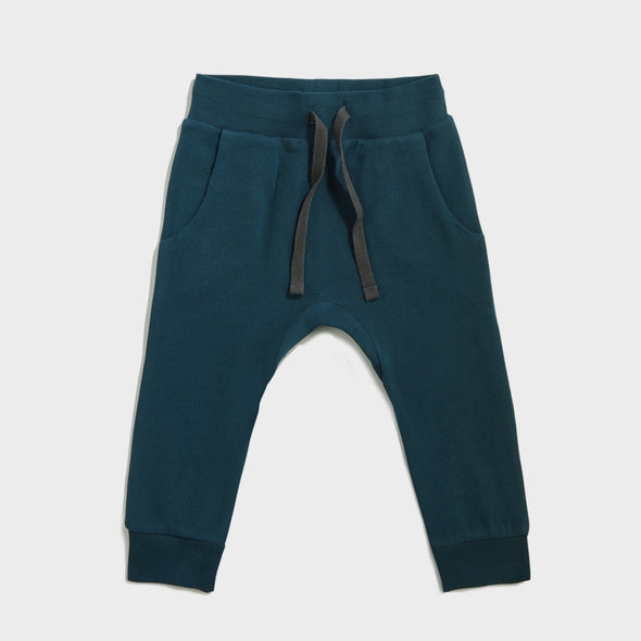 Trainerhose Drop Crotch Teal