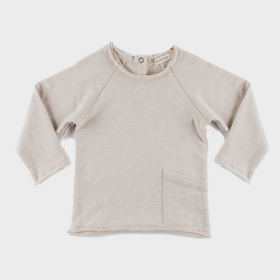 Baby Sweatshirt Raw Edged Oatmeal