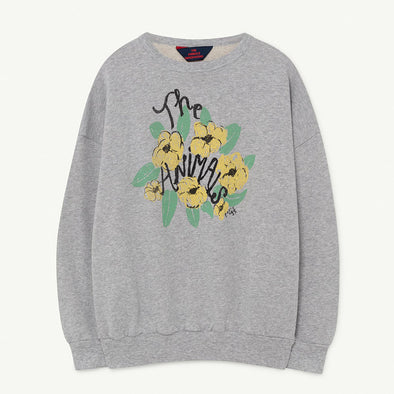 Sweatshirt Grey Flowers