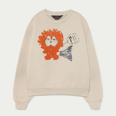 Sweatshirt Bear White Lion