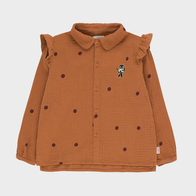Bluse Cat Brown