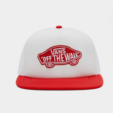 Baseball Cap White Red