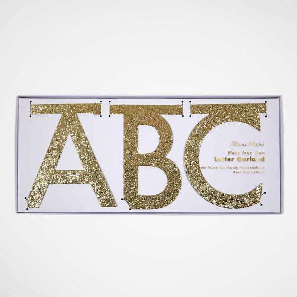 Girlande DIY Gold Glitter Letter Kit