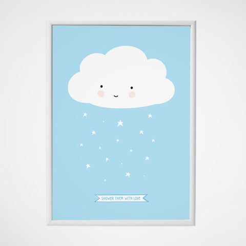 Poster Cloud Blue