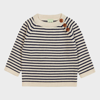 Baby-Pullover Knit Stripes Navy
