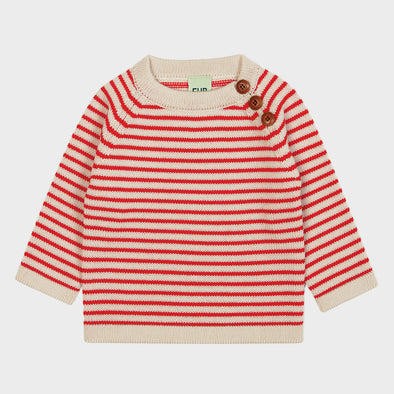 Baby-Pullover Knit Stripes Red