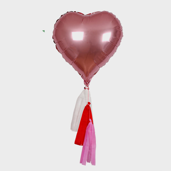 Folienballon Pink Heart 6er Set