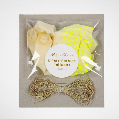 Ballon Set Neon Yellow Star