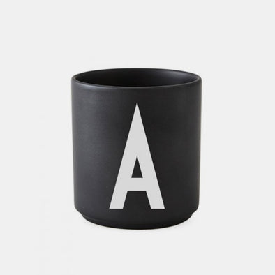 ABC Tasse Porzellan Black