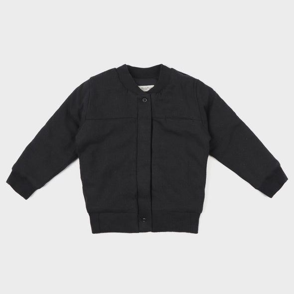 Zip-Pullover Bomber Textured Charcoal
