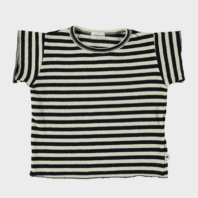 T-Shirt Baby Stripe Black