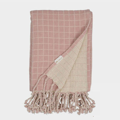 Baby Decke Grid Old Rose