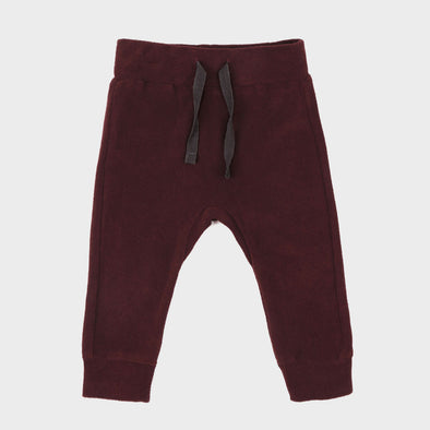 Baby Hose Frotte Aubergine