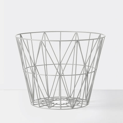 Wire Basket Grey Medium