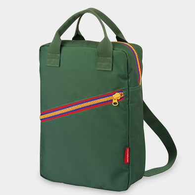 Rucksack Large Zipper Green