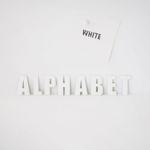 Magnete Letters white