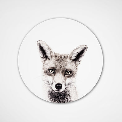 Magnet. Sticker Fox