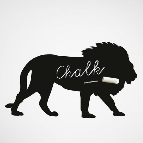 Magnet. Chalkboard Sticker Lion