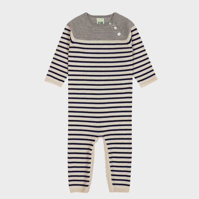 Strampler Knit Stripes Navy