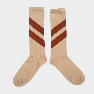 Socken Striped Natural