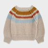 Pullover Striped Natural