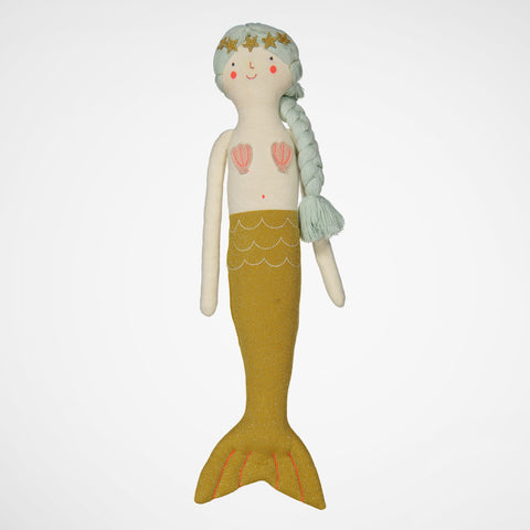 Puppe/Kissen Knitted Mermaid