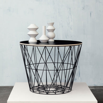 Wire Basket Black Medium