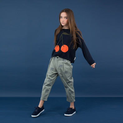 Sweatshirt Cherries blue