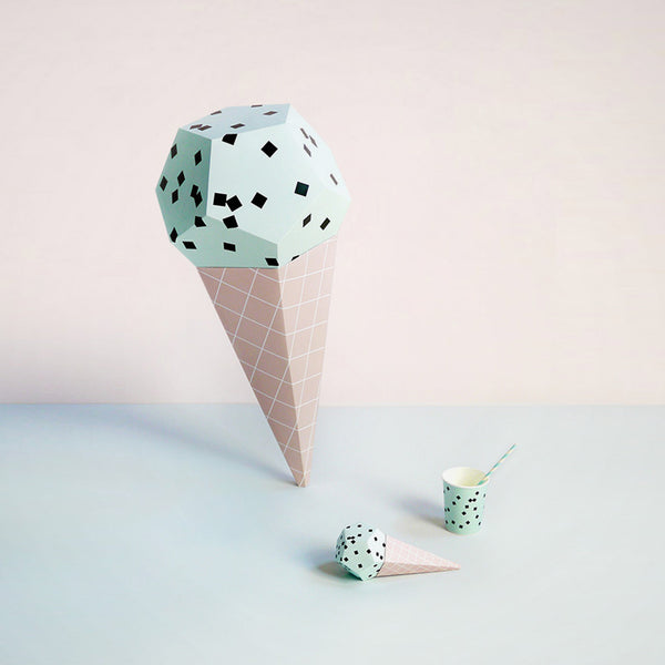 Bastelbogen Giant Ice Cream Mint Choc Chips
