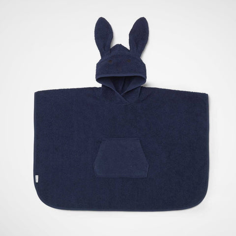 Badeponcho Rabbit navy