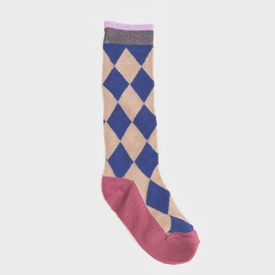 Socken Blue Triangle